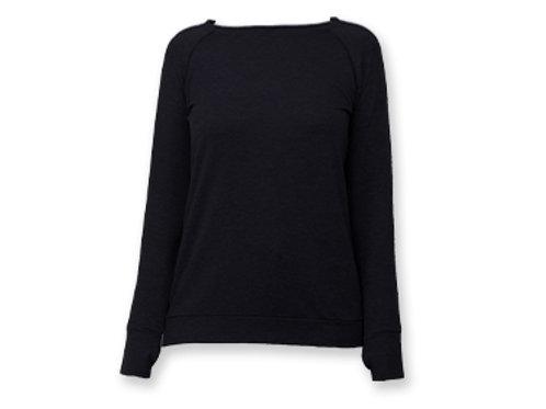 Hello Mellow Weekender Black Long Sleeve Top