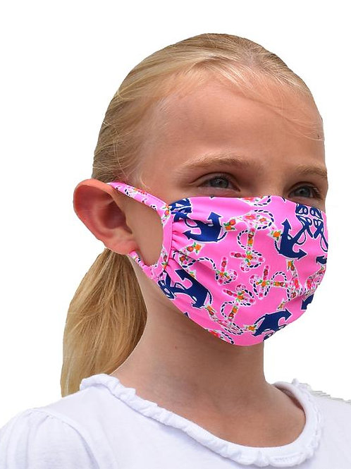 Southwind Apparel Pink Anchor Kids Mask