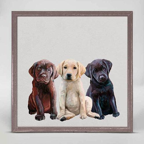 Best Friend - Lab Puppies Mini Framed Canvas