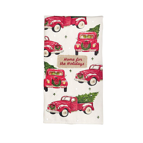 Home For The Holidays Truck Sequin Hand Towel