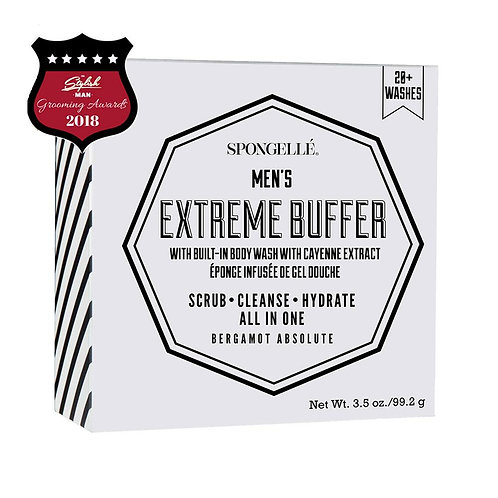 Spongelle Men's Extreme Buffer, Bergamot Absolute
