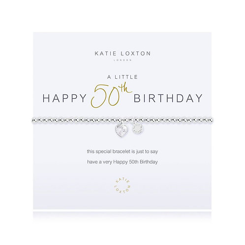 Katie Loxton, A Little Happy 50th Birthday Bracelet