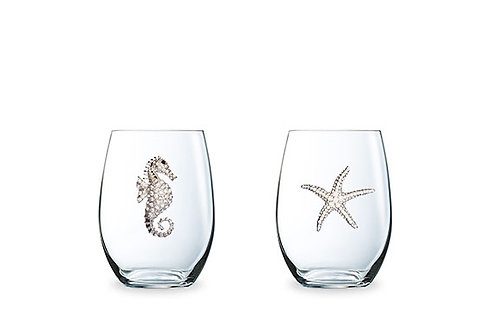 Queen's Jewels Stemless Wine Glasses