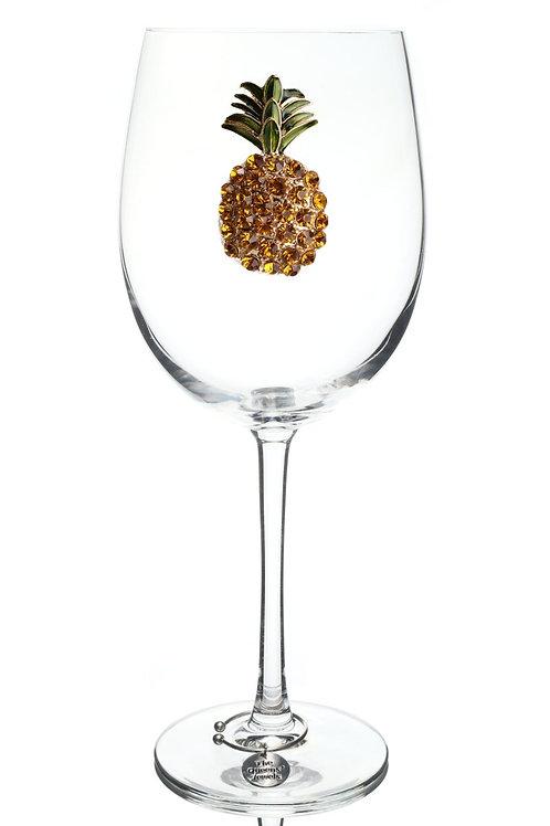 Queen's Jewels, Pineapple Stemmed Wine Glass