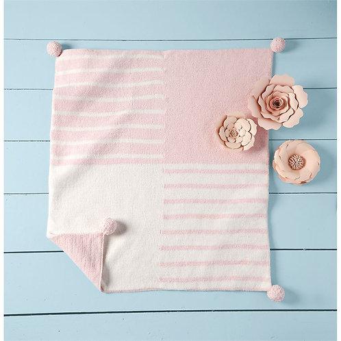 Pink Color-Block Blanket