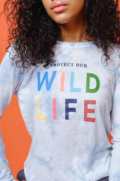 Ivory Ella Ada Slim Wildlife Long Sleeve