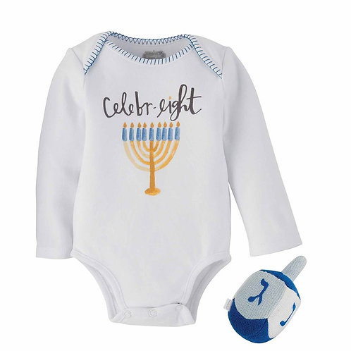 Hanukkah Knit Rattle Gift Set