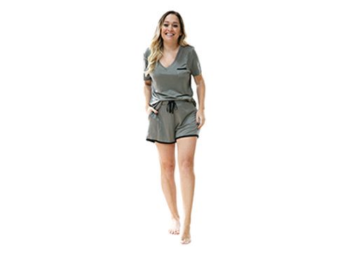 Hello Mellow Weekender Olive Shorts