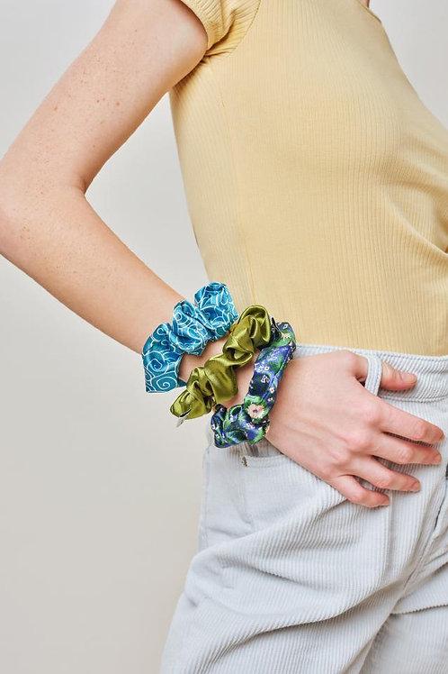 Ivory Ella Floral Scrunchie Set