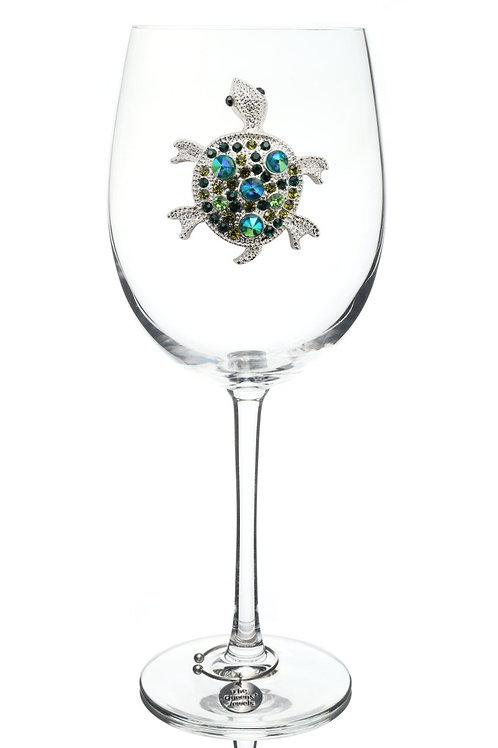 Queen's Jewels, Sea Turtle Stemmed Wine Glass