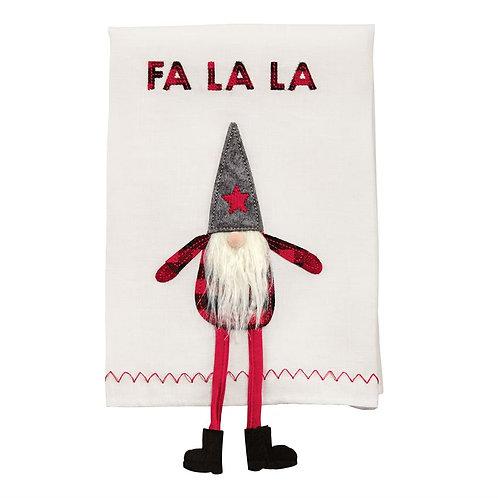 Fa La La Dangle Gnome Hand Towel