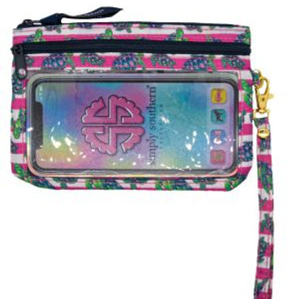 Turtle and Stripes Phone Wristlet