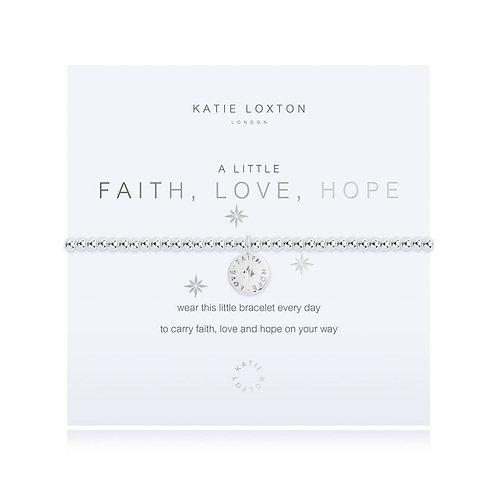 A Little Faith Hope Love  Bracelet