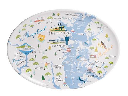 Chesapeake Bay Melamine Platter
