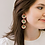 Thumbnail: Allie Beads, Pink & Green Triple Flower Drop Earrings