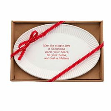Christmas Sentiment Serving Tray