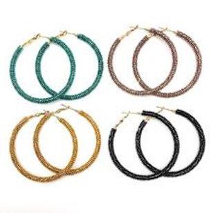 Allie Beads, Twinkle Hoop Earrings