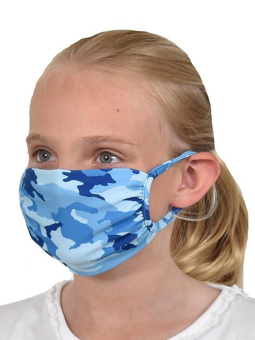 Southwind Apparel Blue Cameo Kids Mask