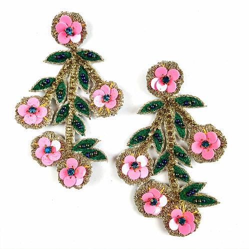 Allie Beads, Cherry Blossom Earrings