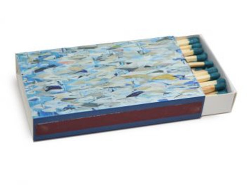 Annapolis Candle, Kim Hovell Collection -Sailboat Design Tabletop Matches