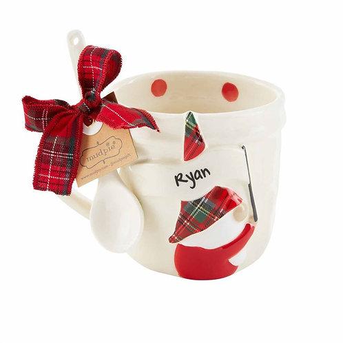 Personalized Gnome Mug Set with Dots