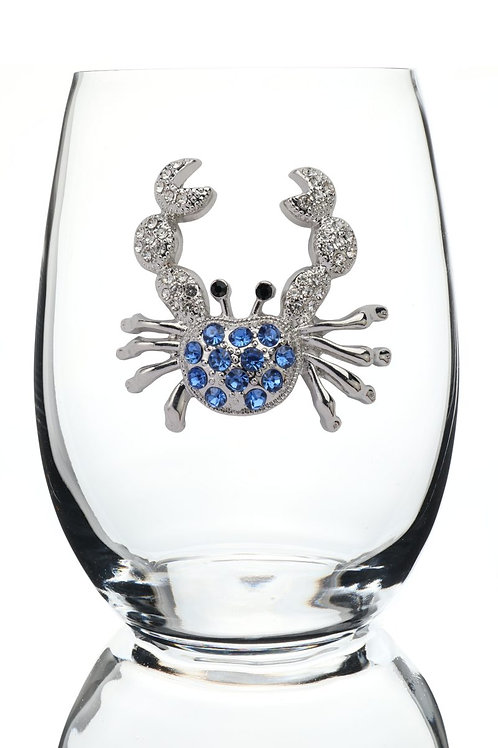 Queen's Jewels, Blue Crab Stemless Wine Glass