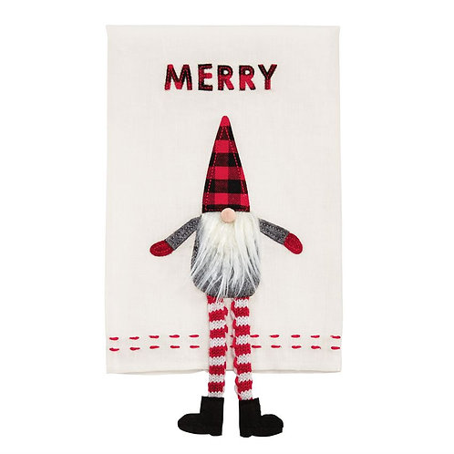 Merry Dangle Gnome Hand Towel