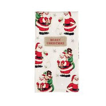 Merry Christmas Santa Sequin Hand Towel