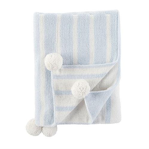 Blue Color-Block Blanket
