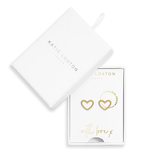 Katie Loxton, Earring Box Fabulous Friend Heart