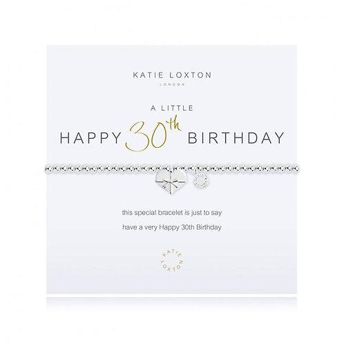 Katie Loxton, A Little Happy 30th Birthday Bracelet