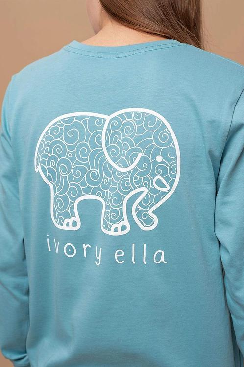 Ivory Ella Regular Fit Doodle Long Sleeve