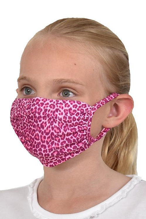 Southwind Apparel Pink Cheetah Kids Mask