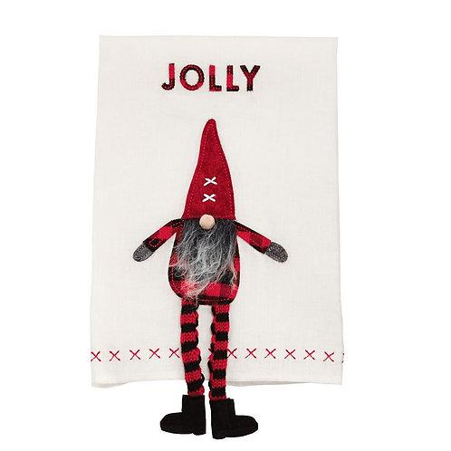 Jolly Dangle Gnome Hand Towel