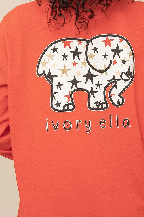 Ivory Ella Regular Fit Stars Long Sleeve