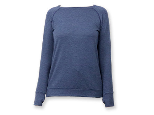 Hello Mellow Weekender Navy Long Sleeve Top