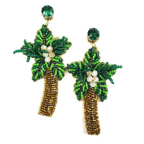 Allie Beads, Palm Tree Earrings