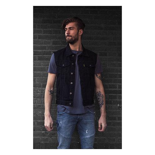 MCS Denim vest black