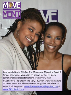 Editor in Chief of The Movement Magazine Egypt & Singer Songwriter Vivian Green