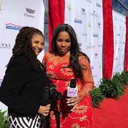 Egypt & Sharon on The Red Carpet