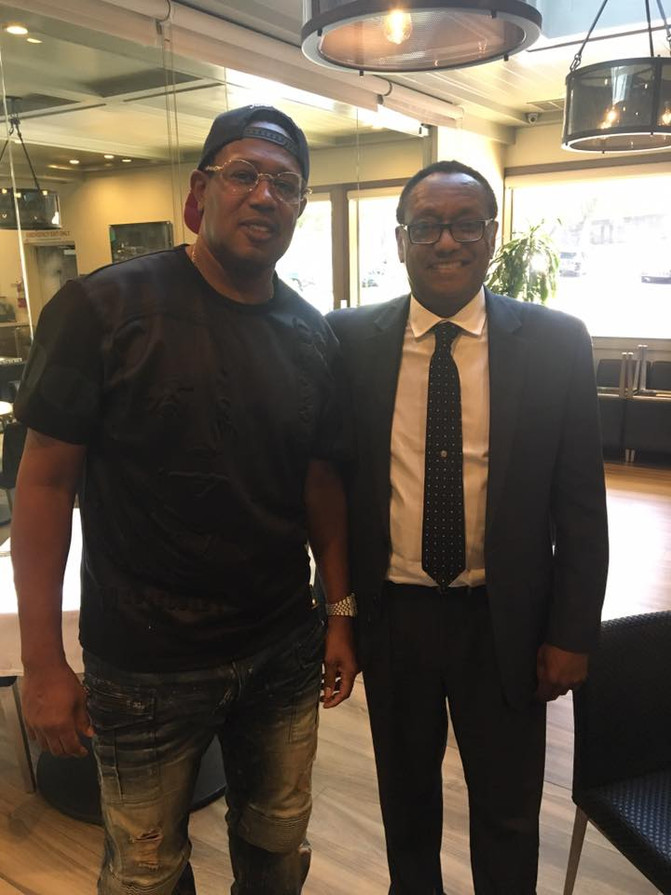 The No Limit Soldier himself (Master P) with the CEO of GMGB - Global Mixed Gender Basketball League