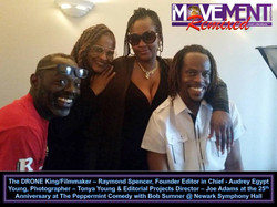 Raymond Spencer, Audrey Egypt Young, Tonya Young & Joe Adams The Movement Magazine