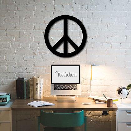 Peace Sign - Metal Tablo