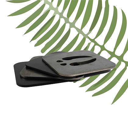 Animal Footprint Metal Bardak Altlığı 4'lü Set - Dekoratif Obje - Bafidica.com