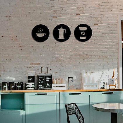 Coffee Symbol Set - Metal Tablolar