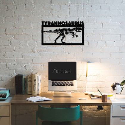 Tyrannosaurus Fossil - Metal Tablo