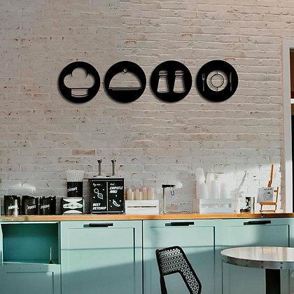 Kitchen Symbol Set - Metal Tablolar