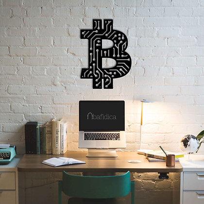 Bitcoin Circuit - Metal Tablo