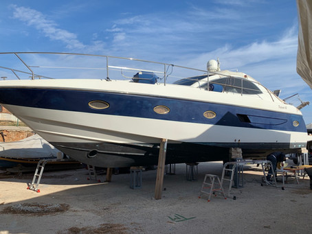 Patriot 45 Blue: boat wrapping