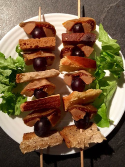 Brochettes Figues Foie gras